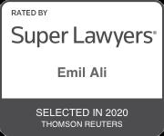 2020 Super Lawyers Emil Ali Badge